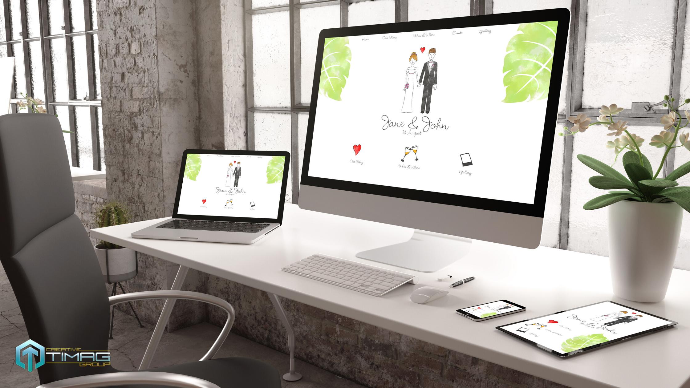 Изработка на уебсайт за Сватбена агенция
